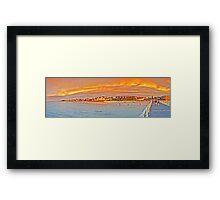 Henley beach jetty- Panorama Framed Print