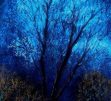 Tree and Blue Sky, Evening by artyfax