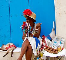 Cuban Cigar Lady by gleadston