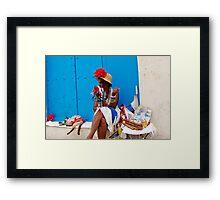 Cuban Cigar Lady Framed Print