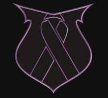 Hope Pink Ribbon Shield Breast Cancer by Sarah  Eldred