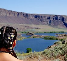 Coulee Lake Wildflowers on her hair by joiwatani
