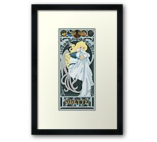 Odette Nouveau - Swan Princess Framed Print
