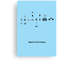 Back To The Future Pictogram Story  Canvas Print