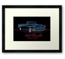 1957 Chevrolet Bel Air Convertible w/ ID Framed Print