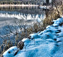 Winter Hits Rainy Lake by Janie Lynn Johnson