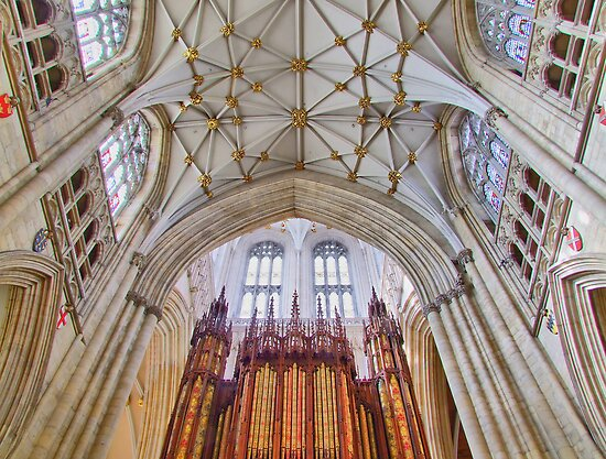 The Organ - York Minster - HDR by Colin J Williams Photography