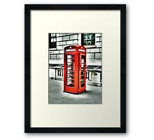 Vintage Phonebox Framed Print