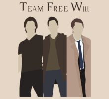 Supernatural Team Free Will (Sam, Dean & Castiel) minimalist t-shirt/sticker by Hrern1313