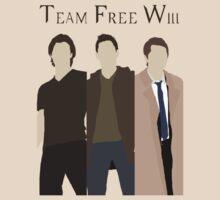 Supernatural Team Free Will (Sam, Dean & Castiel) minimalist t-shirt/sticker by Hrern1313