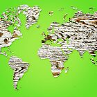Green Map of The World - World Map for your walls by DejaVuStudio