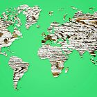 Emerald Map of The World - World Map for your walls by DejaVuStudio