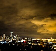 Big Clouds Looming over Downtown Seattle by Jim Stiles
