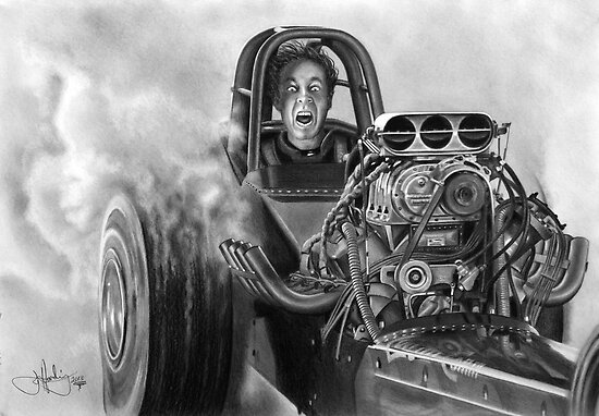 4000 HP drawing by John Harding