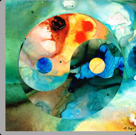 Earth Balance - Yin and Yang Art by Sharon Cummings