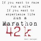 Run a Marathon 42K  by Mark Maloney