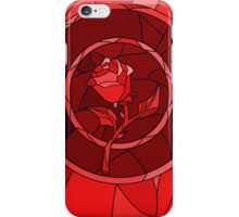 Stained Glass Rose Red iPhone Case/Skin