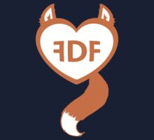 FDF Furry Heart Orange by FDFSTORE