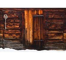 Cabin door Photographic Print