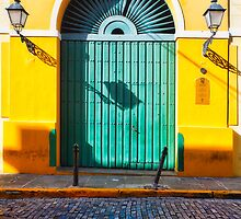 Door and Cobblestone by George Oze