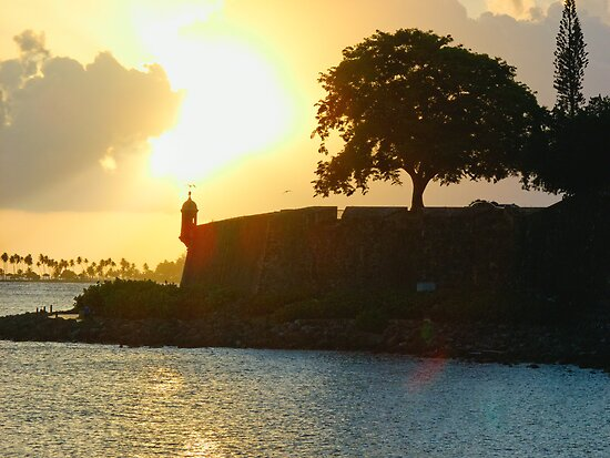 Old San Juan Sunset, by George Oze