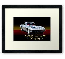 1963 Corvette Stingray w/ ID Framed Print