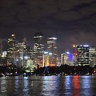 Sydney CBD shinning for New Years Eve by Matthieu PANNIER
