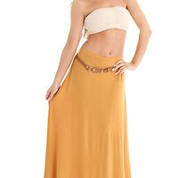 Gypsy Belted Maxi Skirt by Bonnie Morrison