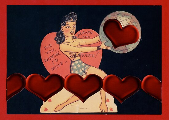 Wonder Woman Valentine by Mary Ellen Garcia