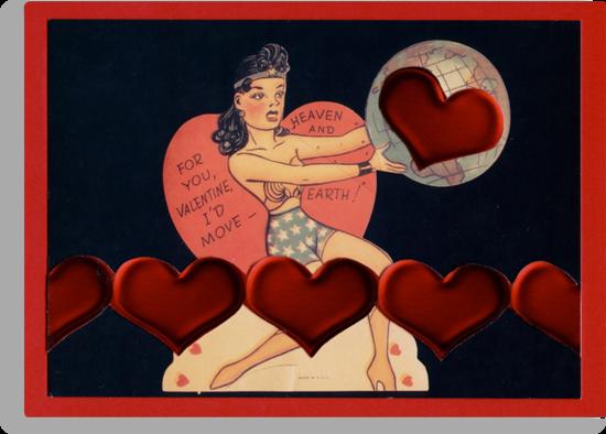 Wonder Woman Valentine by Mary Ellen Garcia