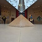 inverted pyramids  of musee d louvre by richard1971