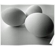 Three white eggs Poster