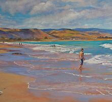 Heading for the Surf by Lynda Robinson