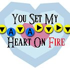 You Set My Heart On Fire - Bolero of Fire Valentine's Card by VRex