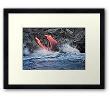 Lava Flow at Kalapana 15 Framed Print