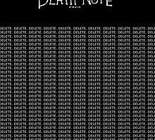 DeathNote Kira DELETE.  by dhmolson