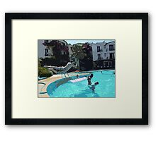 Family Fun Time - Bodrum Framed Print