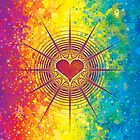 Rainbow Love Burst by Dooda Creations
