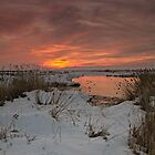 Farmington Bay Sunset by utahwildscapes