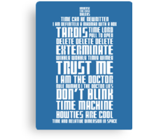 The Doctor Tardis Canvas Print