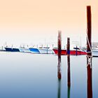 Misty Boats on the Outer Banks I by Dan Carmichael