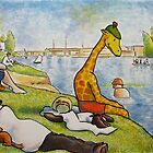 Art Giraffe- Bathers at Asnieres by Sundayink