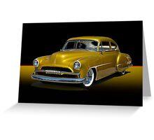 1950 Chevrolet Fleetline Custom w/o ID Greeting Card