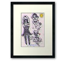 Girl Monkey Clown  Framed Print