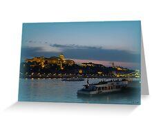 Budapest at Night Greeting Card