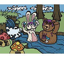 Teddy Bear And Bunny - Shampoo Photographic Print