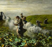 The Pumpkin Harvest, 1897 by Bridgeman Art Library