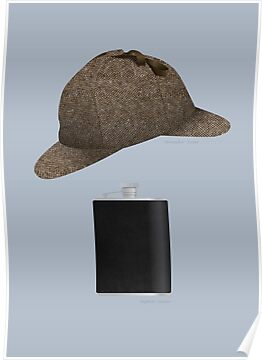 Deerstalker and Hipflask by Stephen Wildish