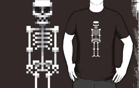 Pixel Skeleton Tee by artofcult