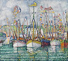 Blessing of the Tuna Fleet at Groix, 1923  by Bridgeman Art Library